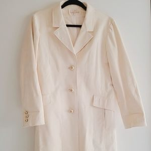 Vintage Ivory Suede Trench Coat